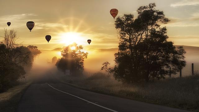 letící balony