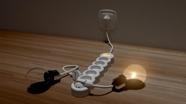 žárovka v prodlužovačce