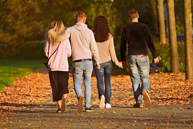 procházka ve čtyřech