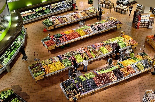 oddělení supermarketu
