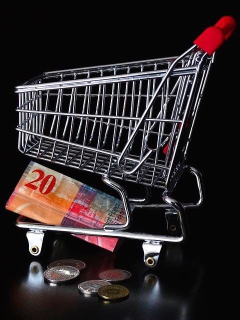 Peníze v nákupním košíku.jpg