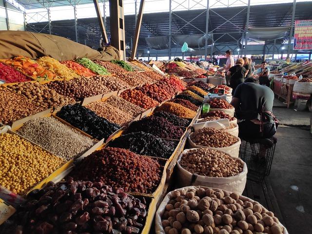 trh se sušeným ovocem